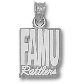 FAMU Rattlers 1/2in Pendant Sterling Silver