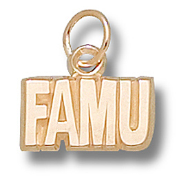 FAMU 1/4in Pendant 14kt Yellow Gold