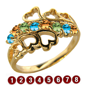 Family Hearts Mother's Ring