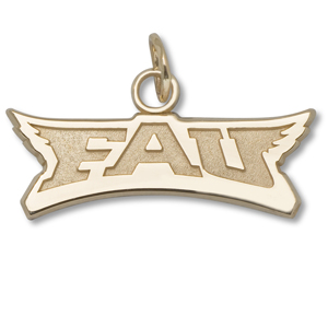 14kt Yellow Gold Florida Atlantic University FAU Pendant