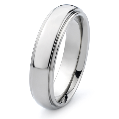 Titanium 6mm Band with Raised Center