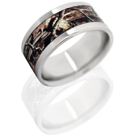 10mm Titanium Ring with Mossy Oak Break Up Infinity Camo Inlay