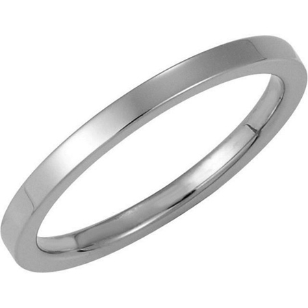 2mm Platinum Comfort Fit Flat Band