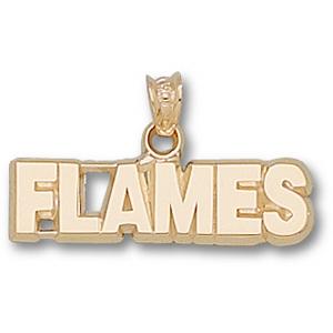 Calgary Flames 1/4in Pendant - 10k