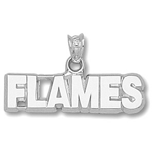 Calgary Flames 1/4in Pendant - Sterling Silver