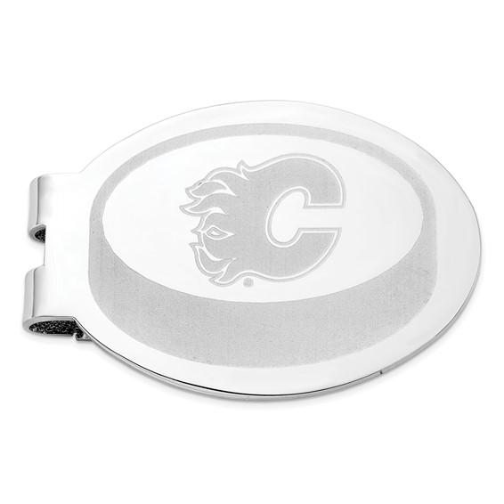 Calgary Flames Laser Engraved Money Clip