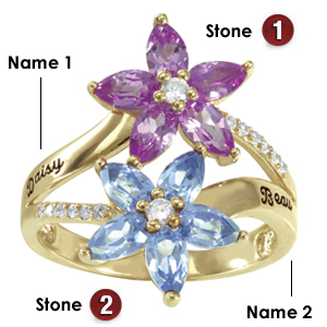 14kt Yellow Gold Floret Promise Ring