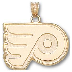 10kt Yellow Gold 5/8in Philadelphia Flyers Logo Pendant