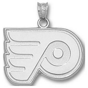 Sterling Silver 5/8in Philadelphia Flyers Logo Pendant