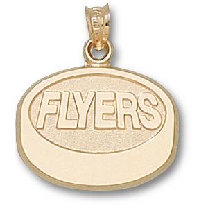 Philadelphia Flyers 5/8in 10k Puck Pendant