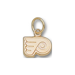 10kt Yellow Gold 1/4in Philadelphia Flyers Logo Pendant