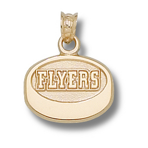 Philadelphia Flyers 1/2in 14k Puck Pendant