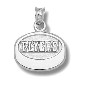 Philadelphia Flyers 1/2in Sterling Silver Puck Pendant