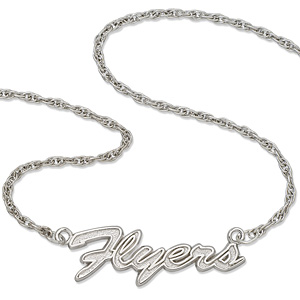Philadelphia Flyers 18in Sterling Silver Script Necklace