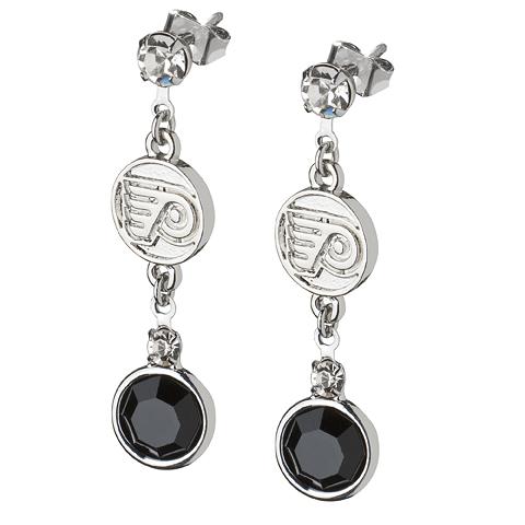Philadelphia Flyers Crystal Logo Earrings