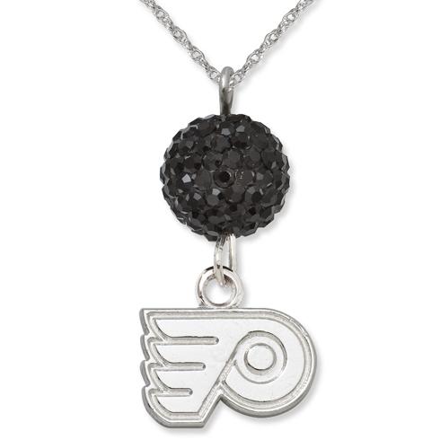 Sterling Silver Philadelphia Flyers Crystal Ovation Necklace