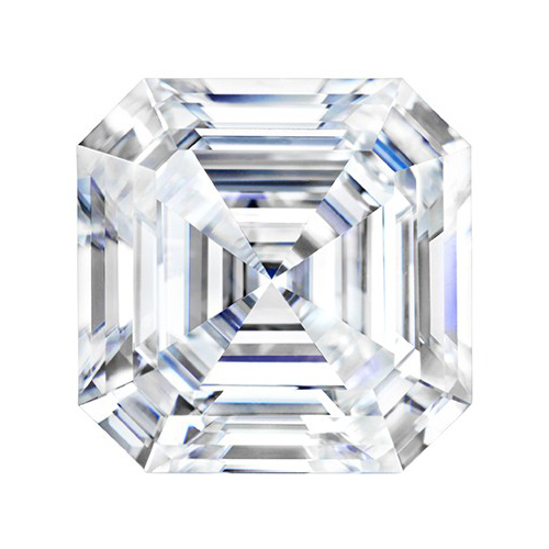 Forever One Moissanite Asscher Stone 6.5mm - 1.3ct