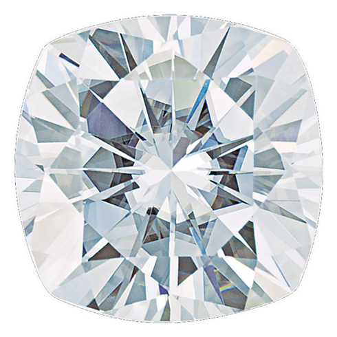 Forever One Moissanite Cushion Stone 9.0mm - 3.48ct G-H