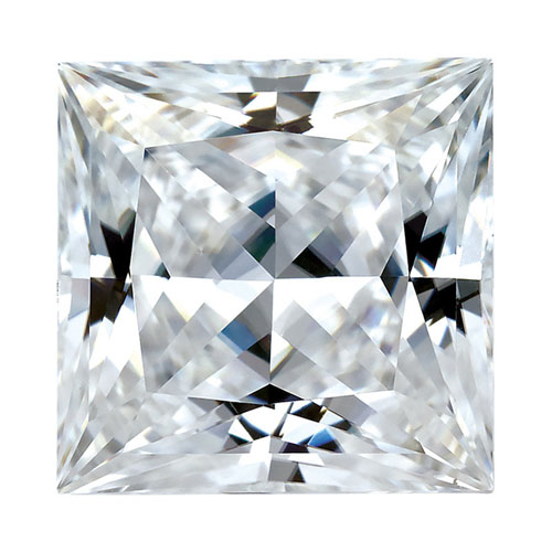 Forever One Moissanite Princess Cut Stone 8mm - 3.1ct