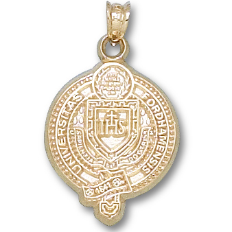 10kt Yellow Gold 3/4in Fordham University Seal Pendant