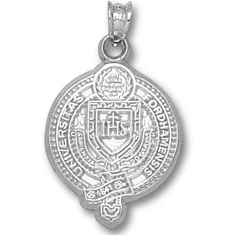 Sterling Silver 3/4in Fordham University Seal Pendant