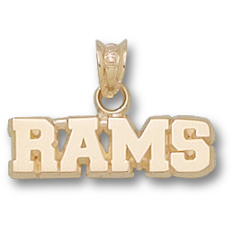 Fordham Rams 1/4in Pendant 14kt Yellow Gold