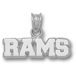 Fordham Rams 1/4in Pendant Sterling Silver