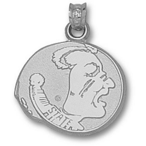 Florida State Seminoles 5/8in Sterling Silver Pendant