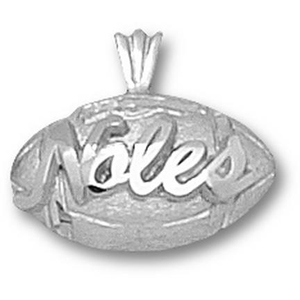 Florida State Seminoles 1/2in Sterling Silver Football Pendant