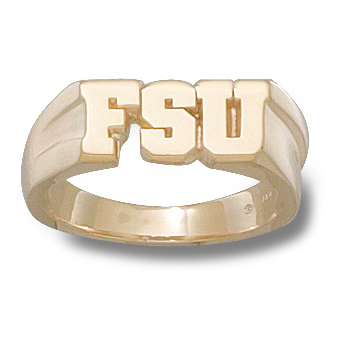 14kt Yellow Gold Florida State FSU Men's Ring