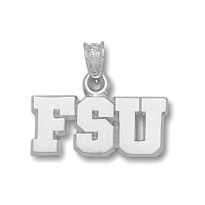 Florida State Seminoles 5/16in Sterling Silver Pendant