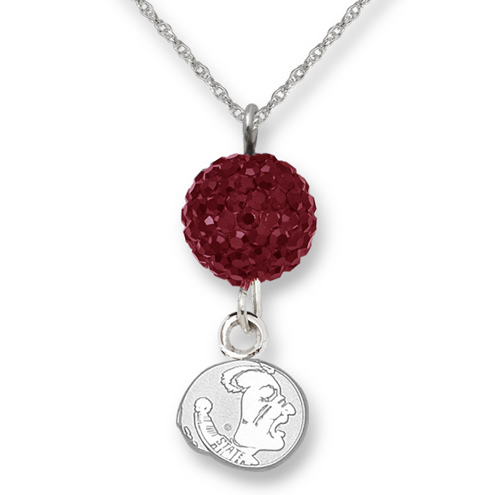 Sterling Silver Florida State University Crystal Ovation Necklace