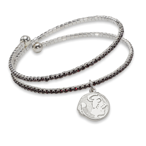Florida State University Amped Logo Crystal Bracelet