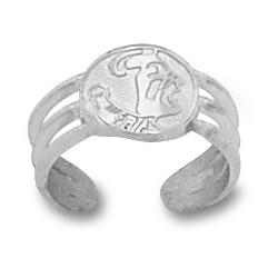 FSU Sterling Silver Toe Ring