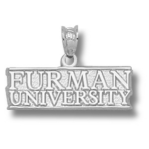 Furman Paladins 1/4in Sterling Silver Pendant