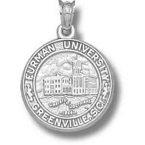 Sterling Silver 5/8in Furman University Seal Pendant