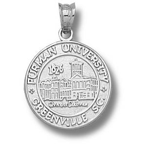 Sterling Silver 1/2in Furman University Seal Charm