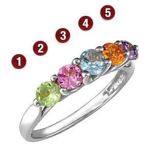 Garland Round Stone Mother's Ring