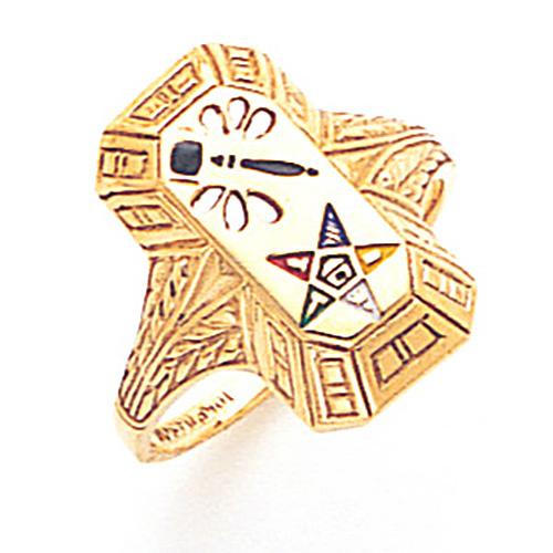 Past Matron Eastern Star Ring - 14k Gold