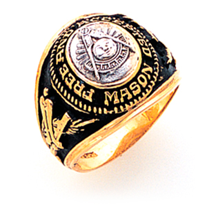 Goldline Masonic Past Master Ring - 14k Gold
