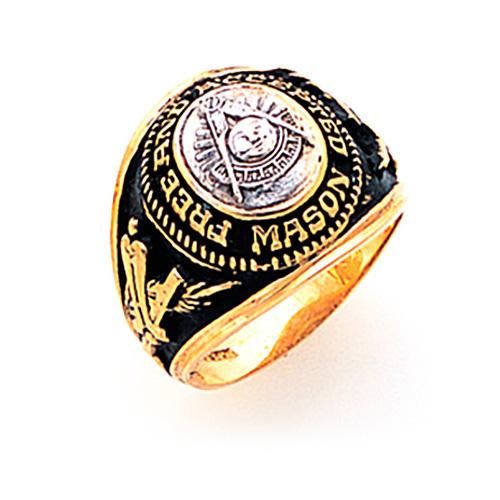 Goldline Masonic Past Master Ring - 10k Gold