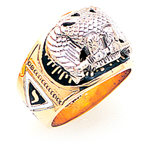 14kt Gold Jumbo Scottish Rite Ring