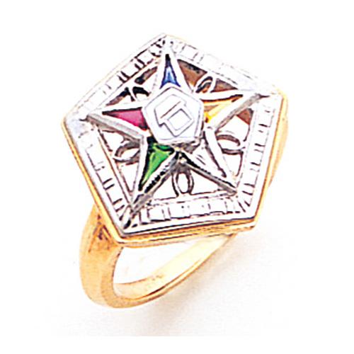 Pentagon Eastern Star Ring - 14k Gold