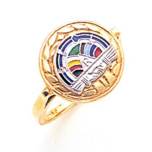 Rainbow Girl Ring - 10k Gold