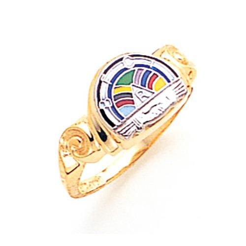 Rainbow Girl Ring - 10k Gold