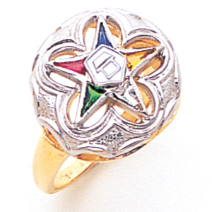 Flower Eastern Star Ring - 10k Gold