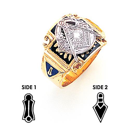 Cross Blue Lodge Ring - 10k Gold