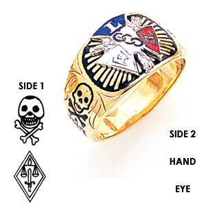 10kt Yellow Gold Odd Fellow Ring