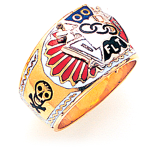 Odd Fellow Ring Deluxe - 14k Gold