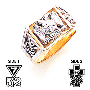 14kt Two-tone Gold Scottish Rite Ring